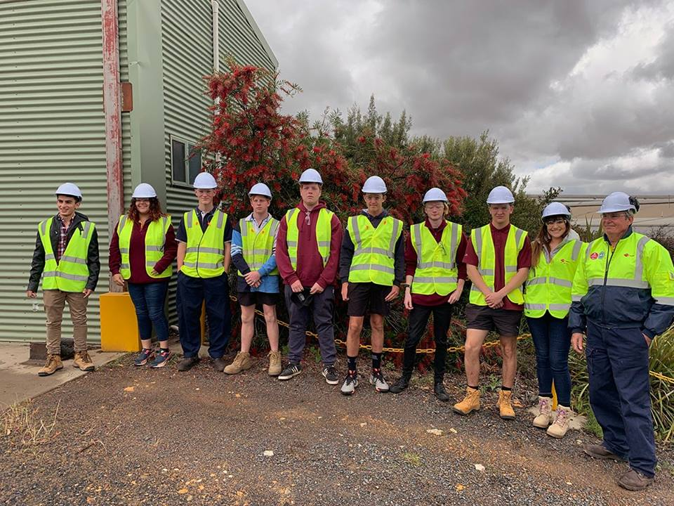 Hyne Timber open day students